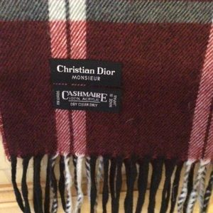 Christian Dior Monsieur Fringed Scarf